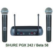 микрофон SHURE PGX242/BETA58A радиосистема 2 микрофона BETA 58.кейс.