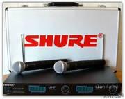 Микрофон Shure Lx88-III радиосистема 2 (беспроводных) микр Shure SM58.кейс.( не рынок)